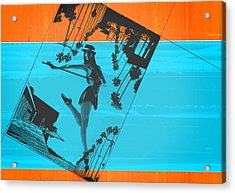 Post Card From La Acrylic Print by Naxart Studio