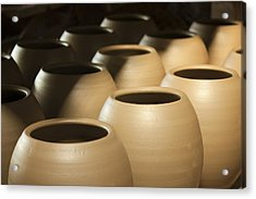 Pottery In Thailand Acrylic Print by Chatchawin Jampapha