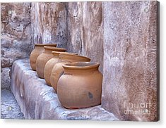 Pottery Of The Past Acrylic Print by Sandra Bronstein