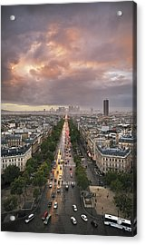 Pov From Arch Of Triumph Acrylic Print by © Yannick Lefevre - Photography