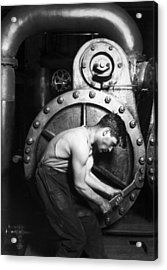 Powerhouse Mechanic Acrylic Print by Lewis Wickes Hine