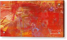 Powerless- I Watched Him Toss Her Into The Street And The Ladies Laughed Acrylic Print by Fania Simon