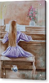 Practice Makes Perfect Acrylic Print by Patsy Sharpe