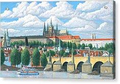 Prague And The St. Charles Bridge Acrylic Print by Patrick Funke