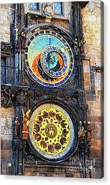 Prague Astronomical Clock 2 Acrylic Print by Mariola Bitner