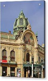 Prague Obecni Dum - Municipal House Acrylic Print by Christine Till