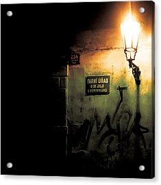 Prague Street Light Acrylic Print by Chris Giles