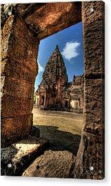 Prasat Phnom Rung Acrylic Print by Adrian Evans
