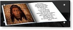 Prayer Book Acrylic Print by Cecil Fuselier