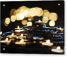 Prayer Candles Acrylic Print by Beth Riser
