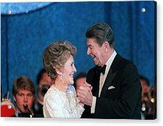 President And Mrs. Reagan Dance Acrylic Print by Everett