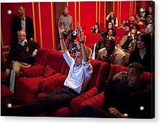 President Barack Obama Celebrates Acrylic Print by Everett