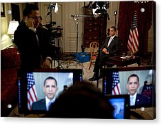 President Barack Obama Conducting Acrylic Print by Everett