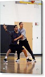 President Barack Obama Guards Acrylic Print by Everett