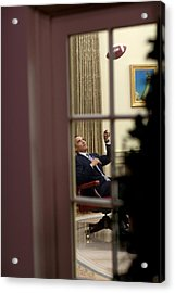 President Barack Obama Plays Acrylic Print by Everett