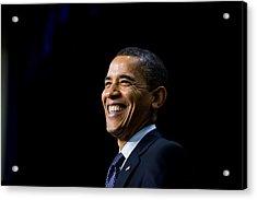 President Barack Obama Smiles While Acrylic Print by Everett