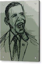 President Barack Obama Acrylic Print by William Winkfield