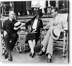 President Calvin Coolidge, First Lady Acrylic Print by Everett