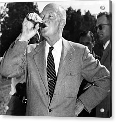 President Dwight D. Eisenhower Downing Acrylic Print by Everett