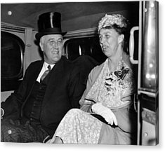 President Franklin D. Roosevelt, First Acrylic Print by Everett