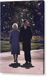 President George And Barbara Bush Take Acrylic Print by Everett