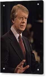 President Jimmy Carter Speaking Acrylic Print by Everett