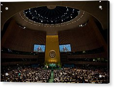 President Obama Addresses The Un Acrylic Print by Everett