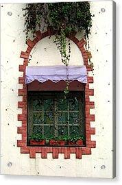Pretty Decorated Window Acrylic Print by Yali Shi