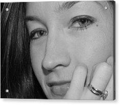 Pretty Face With Ring Near Cheek Acrylic Print by Robert Ulmer