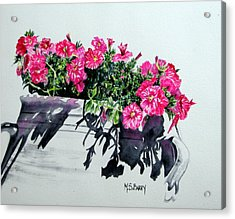 Pretty In Pink Acrylic Print by Maria Barry
