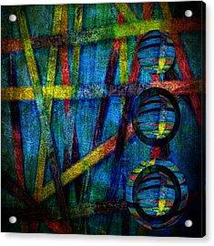 Primary Three Square Acrylic Print by Angelina Vick