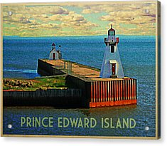 Prince Edward Island Lighthouse Acrylic Print by Flo Karp