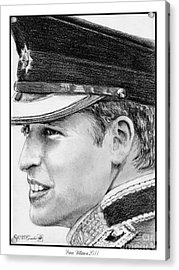 Prince William In 2011 Acrylic Print by J McCombie