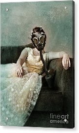 Princess In Gas Mask 2 Acrylic Print by Jill Battaglia