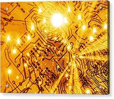 Printed Circuit Board, Artwork Acrylic Print by Mehau Kulyk
