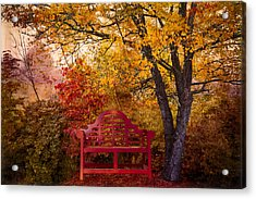 Promises Made Acrylic Print by Debra and Dave Vanderlaan