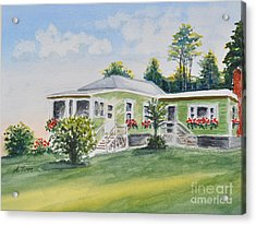 Prout's Neck Cottage Acrylic Print by Andrea Timm