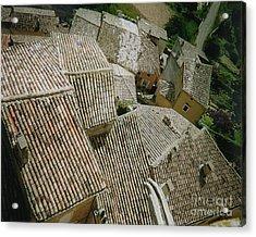 Provence Rooftops Acrylic Print by Pamela Canzano
