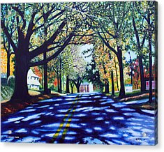 Providence Road Acrylic Print by Jerry Kirk