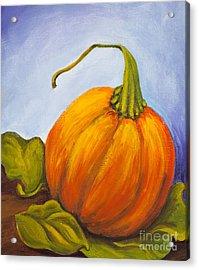 Pumpkin Acrylic Print by Nicole Okun