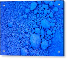 Pure Cobalt Powder Acrylic Print by G Fletcher