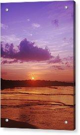 Purple And Orange Sunset Acrylic Print by Vince Cavataio - Printscapes