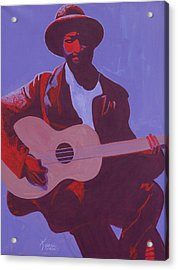 Purple Blues Acrylic Print by Kaaria Mucherera