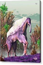 Purple Fantasy Creature Acrylic Print by Daniel Eskridge