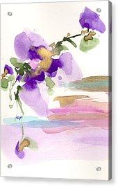 Purple Flower Acrylic Print by Darlene Flood