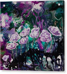Purple Lava Floral Acrylic Print by Shelly Leitheiser