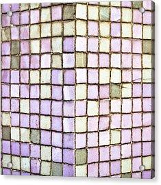 Purple Tiles Acrylic Print by Tom Gowanlock