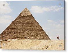 Pyramid Of Khafre Chephren, Giza, Al Acrylic Print by Peter Langer