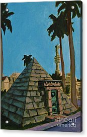 Pyramid Tomb In Cemetary Acrylic Print by John Malone