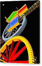 Pythagorean Machine Portrait 5 Acrylic Print by Russell Kightley